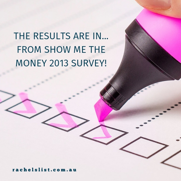 The results are in… from Show Me The Money 2013 survey!