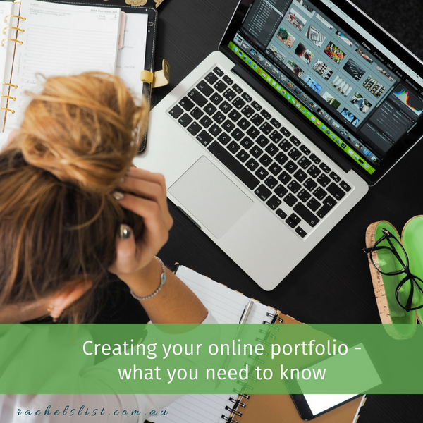 How to create a website or online portfolio for your work