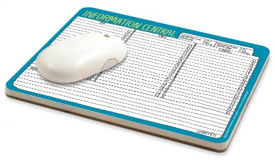 information central mousepad notepad
