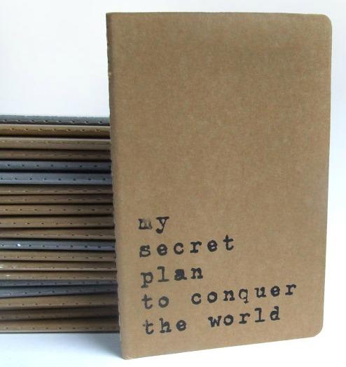 my secret plan notepad