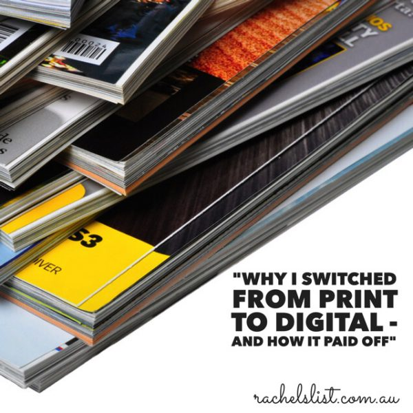 """Why I switched from print to digital – and how it paid off"""