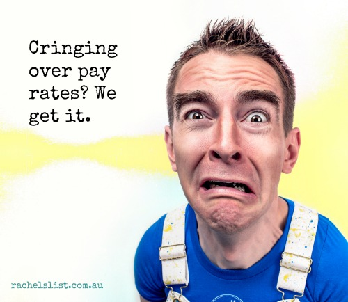 cringing over pay rates