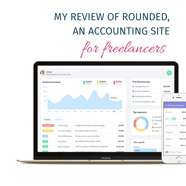 My review of Rounded, an accounting site for freelancers