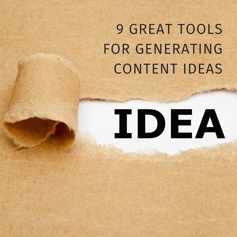 9 great tools for generating content ideas