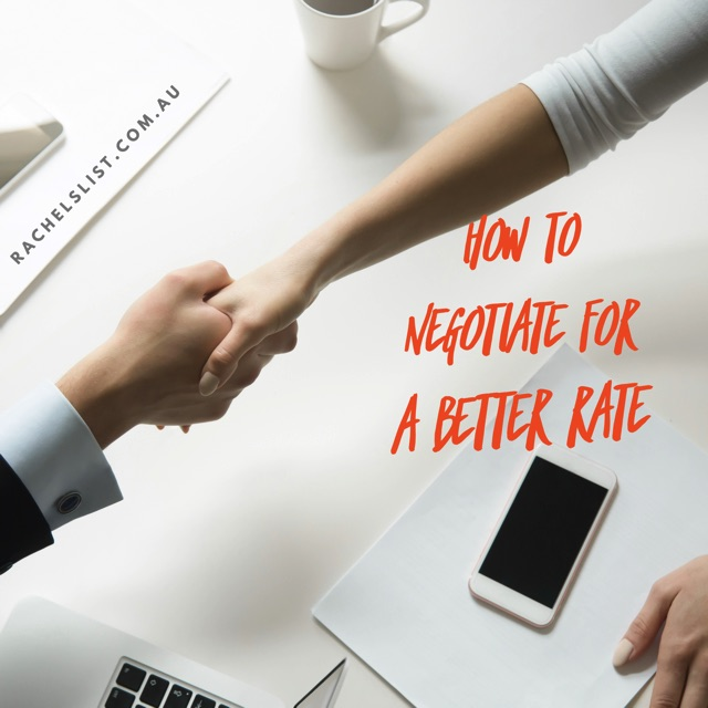 How to negotiate for a better rate