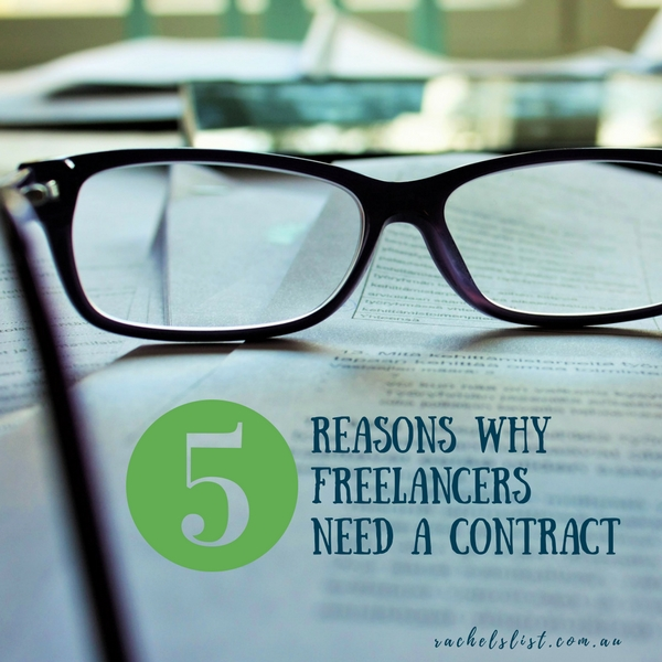 Five reasons why freelancers need a contract