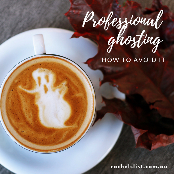 Professional ghosting: how to avoid it