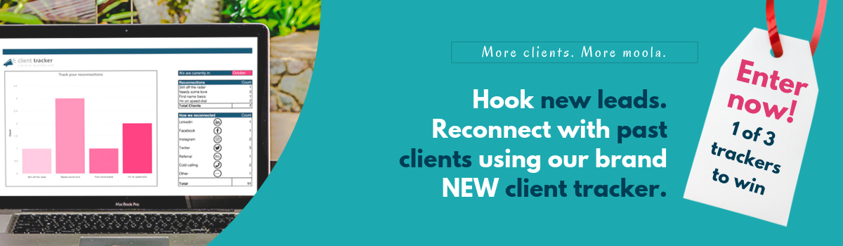 Reconnect with old clients and nurture new leads with the client tracker (and how to win one!)