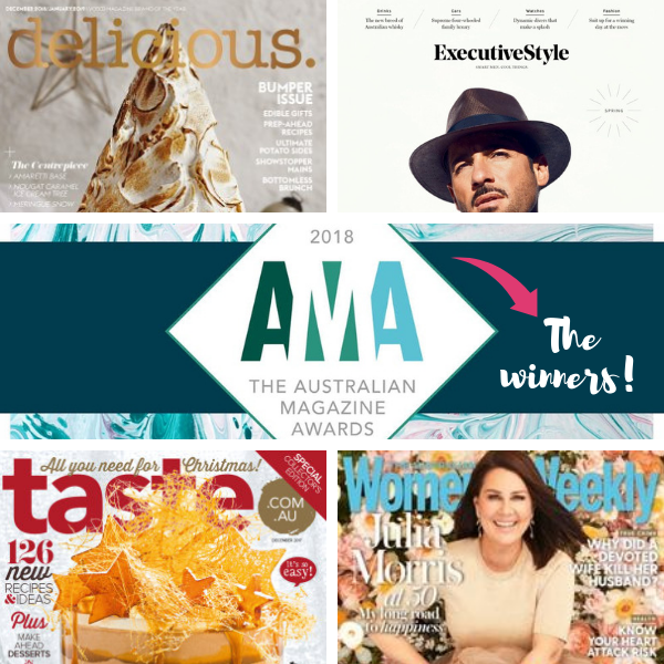 Delicious cleans up at the Australian Magazine Awards 2018