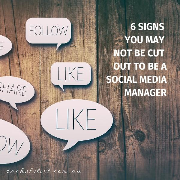 6 signs you may not be cut out to be a social media manager