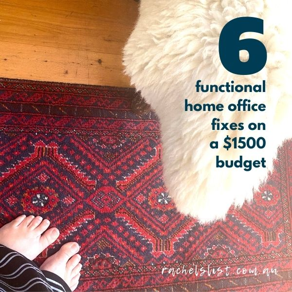 6 functional home office fixes on a $1500 budget
