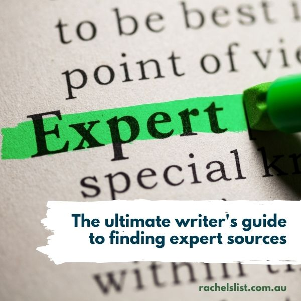 The ultimate writer's guide to finding expert sources