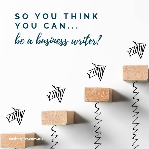 So you think you can … be a business writer?