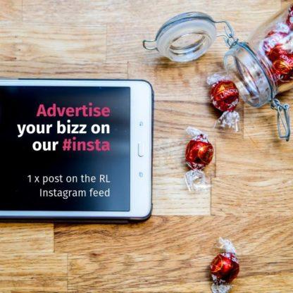banner ad on instagram ipad chocolate