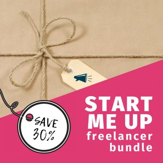 brown paper package of freelancer tools