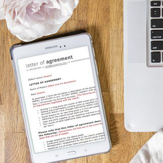 Freelancer letter of agreement ipad