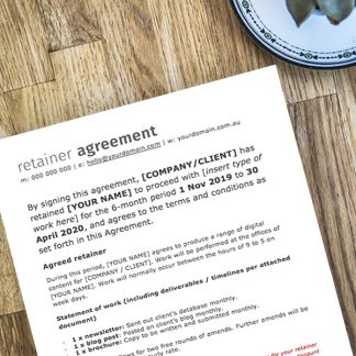 Freelancer retainer agreement