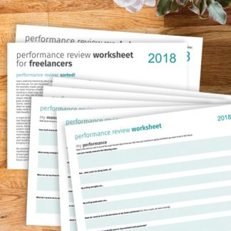 performance review worksheet for freelancers