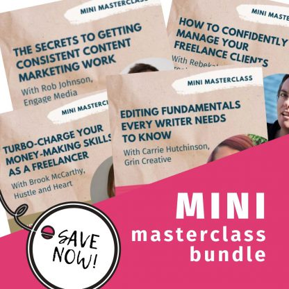 Buy tickets to all mini masterclasses