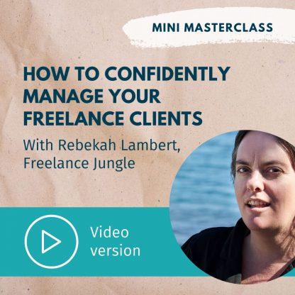 Rebekah Lambert mini masterclass on client management
