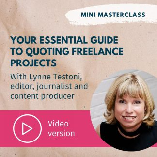 Lynne Testoni quoting video masterclass