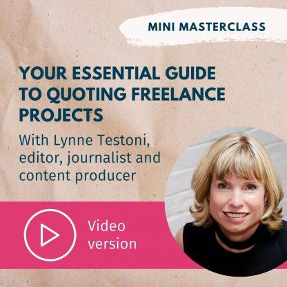 Lynne Testoni quoting video masterclass