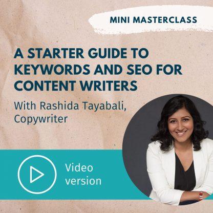 A starter guide to keywords and SEO with Rashida Tayabali