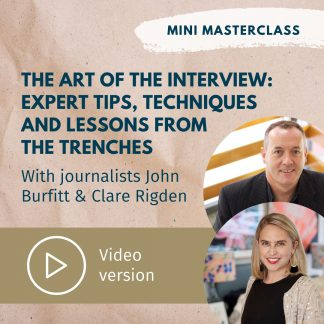 The art of the interview masterclass