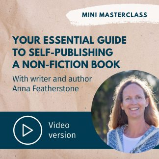 Anna Featherstone self-publish a non-fiction book masterclass